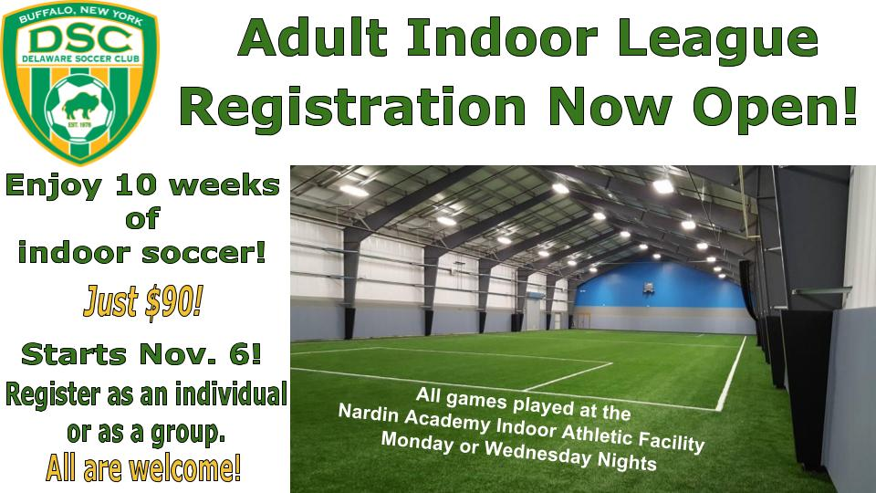 Register today for the DSC Adult League!