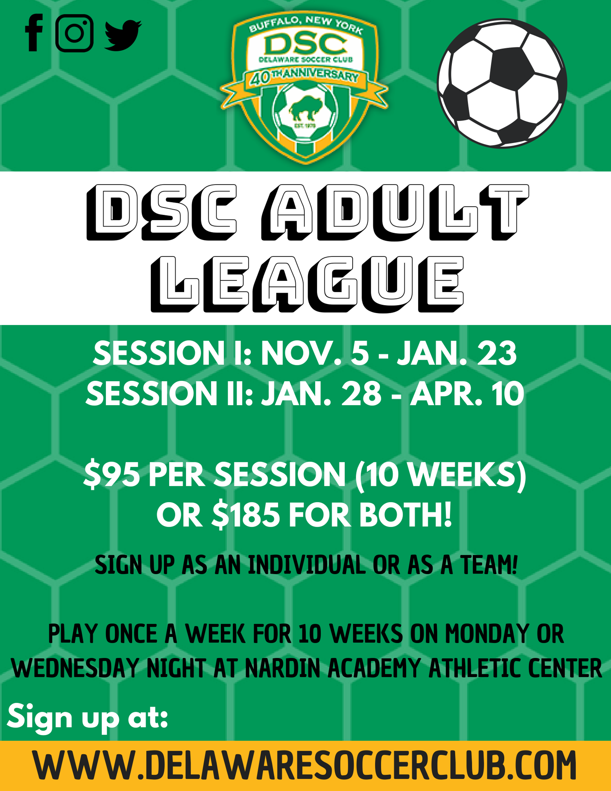 Adult League Flyer!